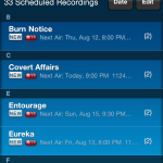 Scheduled Recordings
