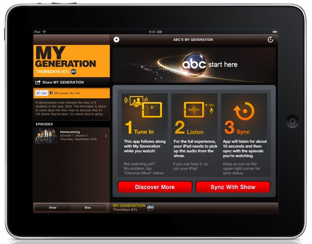 ABC Launches iPad App for My Generation