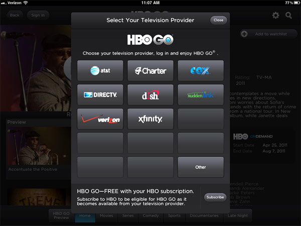 HBO Go Available on iOS and Android