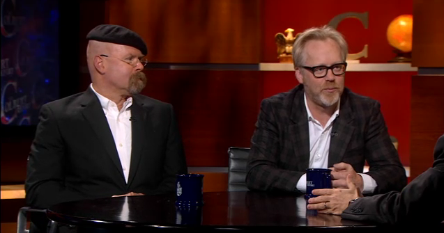 Watch MythBusters Hyneman and Savage on Colbert