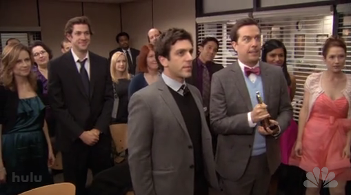 Watch The Office Staff Sing a Tribute to Michael Scott